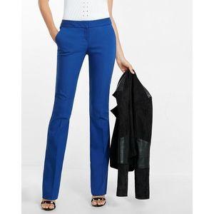 {EXPRESS} Columnist Slim Flare Dress Pants, Blue